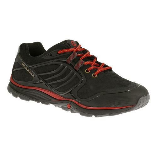 Mens Merrell Verterra Hiking Shoe - Black/Red 11.5
