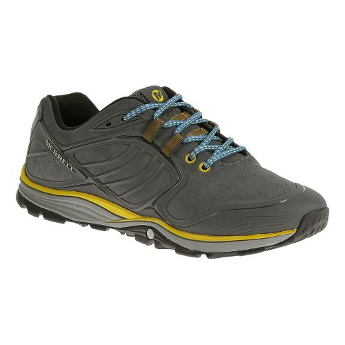 Mens Merrell Verterra Hiking Shoe - Castlerock/Yellow 7.5