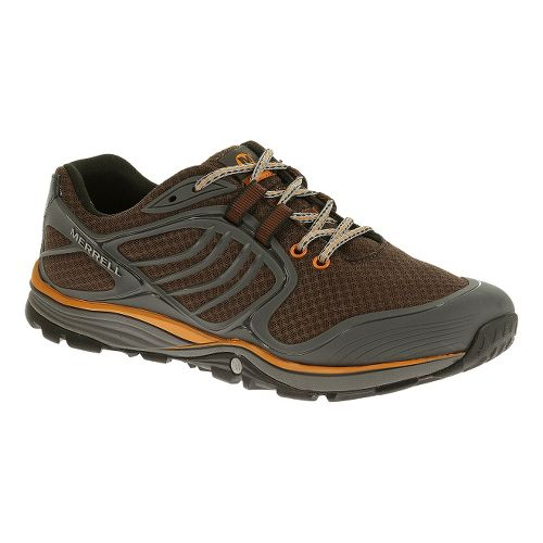 Mens Merrell Verterra Sport Hiking Shoe - Bracken/Tanga 10