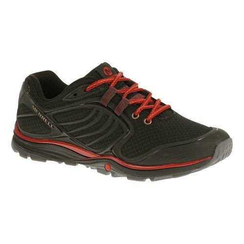 Mens Merrell Verterra Sport Hiking Shoe - Black/Red 10.5