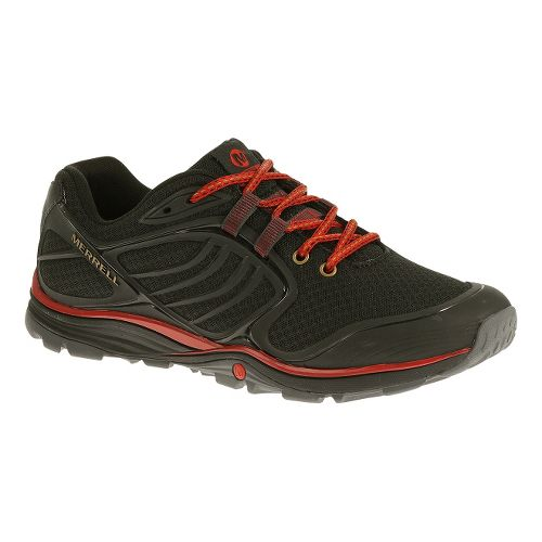 Mens Merrell Verterra Sport Hiking Shoe - Black/Red 7.5