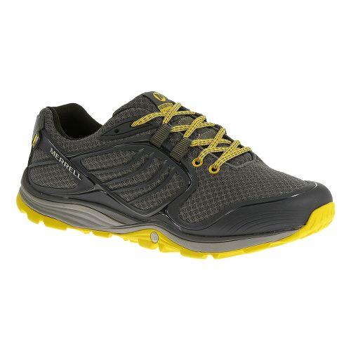 Mens Merrell Verterra Sport Hiking Shoe - Castlerock/Yellow 8