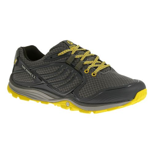 Mens Merrell Verterra Sport Hiking Shoe - Castlerock/Yellow 8.5