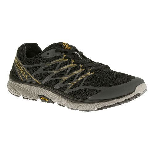 Mens Merrell Bare Access Ultra Running Shoe - Black/Gold 15
