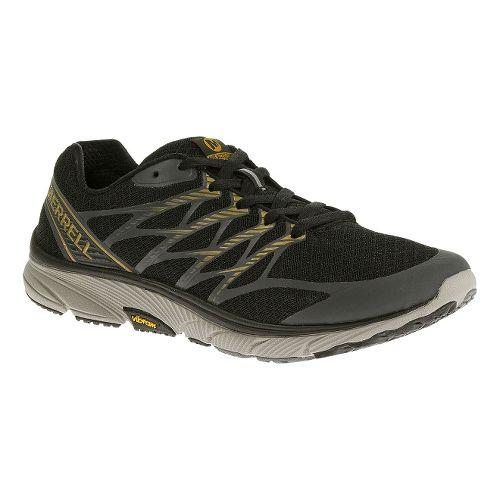 Mens Merrell Bare Access Ultra Running Shoe - Black/Gold 8.5