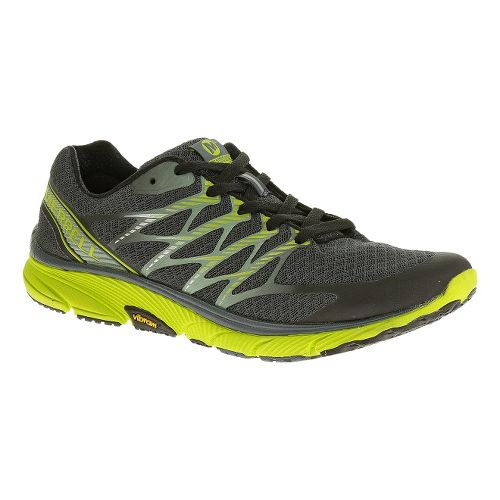 Mens Merrell Bare Access Ultra Running Shoe - Castlerock/Lime 14