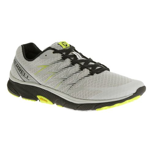 Mens Merrell Bare Access Ultra Running Shoe - White/Lime 8.5