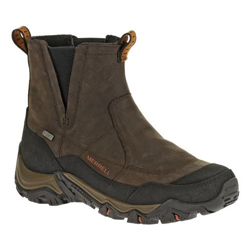 Mens Merrell Polarand Rove Pull Waterproof Hiking Shoe - Black Slate 12