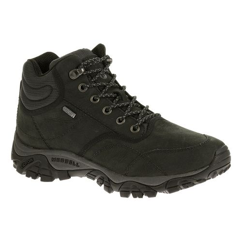 Mens Merrell Moab Rover Mid Waterproof Hiking Shoe - Black 9