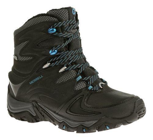 Womens Merrell Polarand 8 Waterproof Hiking Shoe - Black 7