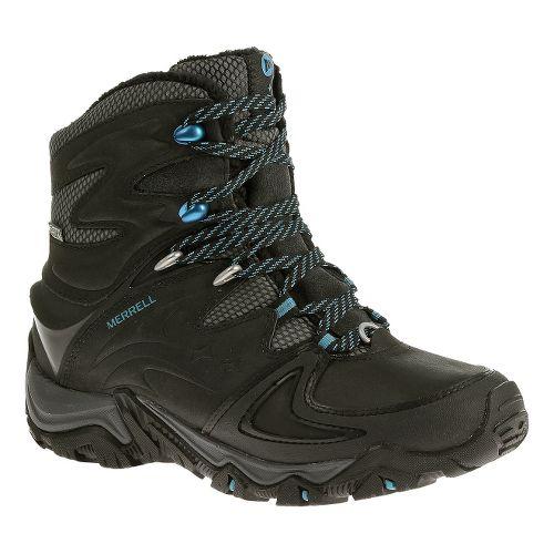 Womens Merrell Polarand 8 Waterproof Hiking Shoe - Black 10