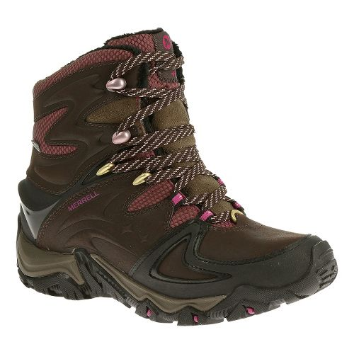 Womens Merrell Polarand 8 Waterproof Hiking Shoe - Espresso 5