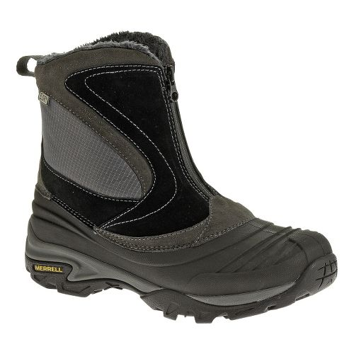 Womens Merrell Snowbound Mid Zip Waterproof Hiking Shoe - Black 10.5