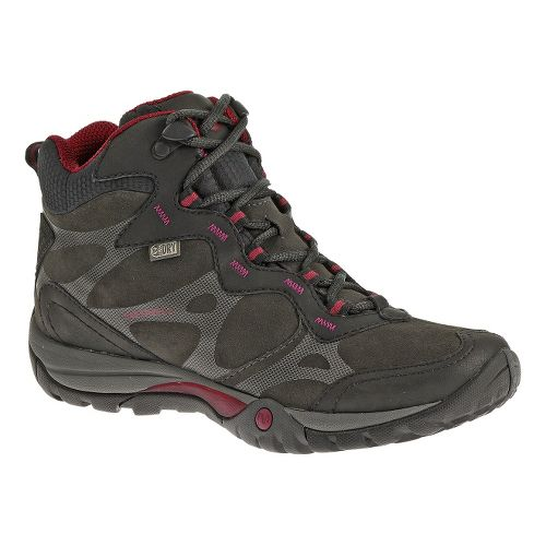 Womens Merrell Azura Carex Mid Waterproof Hiking Shoe - Black 5