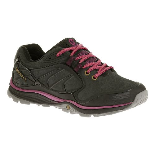 Womens Merrell Verterra Waterproof Hiking Shoe - Black/Rose 7.5