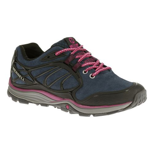 Womens Merrell Verterra Waterproof Hiking Shoe - Blue Moon/Rose 10