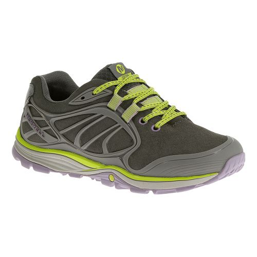 Womens Merrell Verterra Waterproof Hiking Shoe - Granite/Lime 10