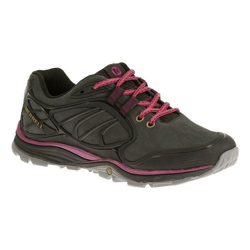 Womens Merrell Verterra Hiking Shoe - Black/Rose 7.5