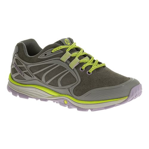 Womens Merrell Verterra Hiking Shoe - Granite/Lime 6.5