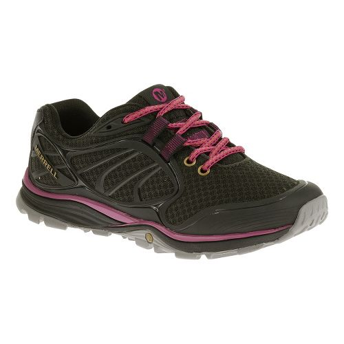 Womens Merrell Verterra Sport Hiking Shoe - Black/Rose 8.5
