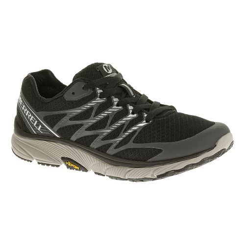 Womens Merrell Bare Access Ultra Running Shoe - Black/Silver 5.5