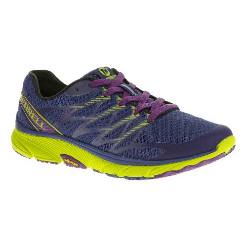 Womens Merrell Bare Access Ultra Running Shoe - Blue/Lime 10.5