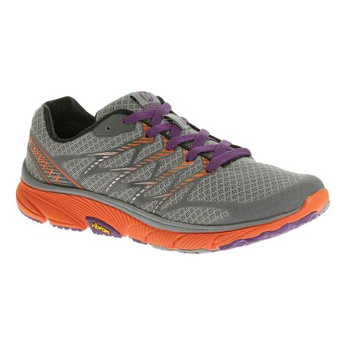 Womens Merrell Bare Access Ultra Running Shoe - Monument/Tanga 5