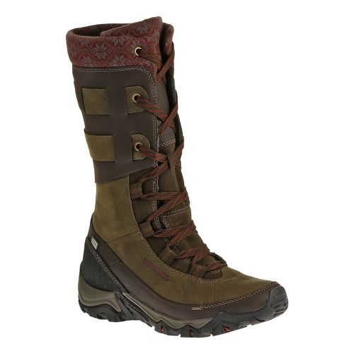 Womens Merrell Polarand Rove Peak Waterproof Casual Shoe - Black Slate 6.5