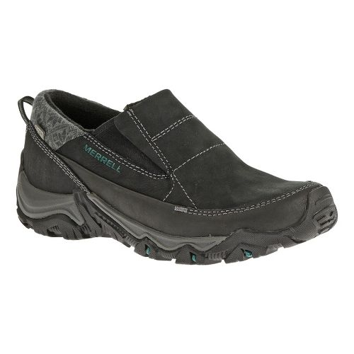 Womens Merrell Polarand Rove Moc Waterproof Casual Shoe - Black 5