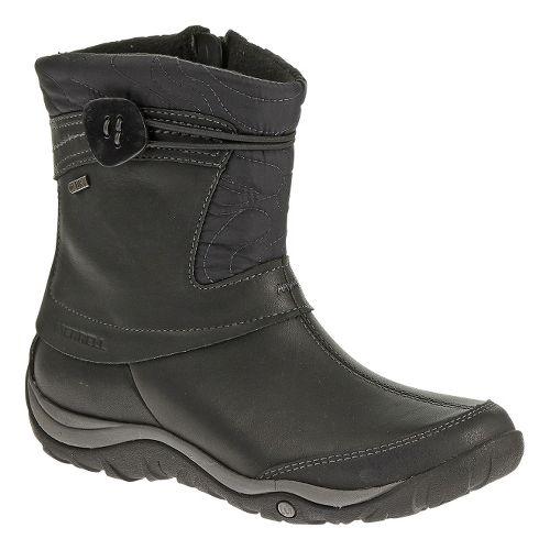 Womens Merrell Dewbrook Zip Waterproof Casual Shoe - Black 8.5