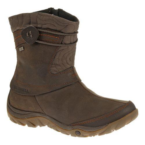 Womens Merrell Dewbrook Zip Waterproof Casual Shoe - Brown 9.5