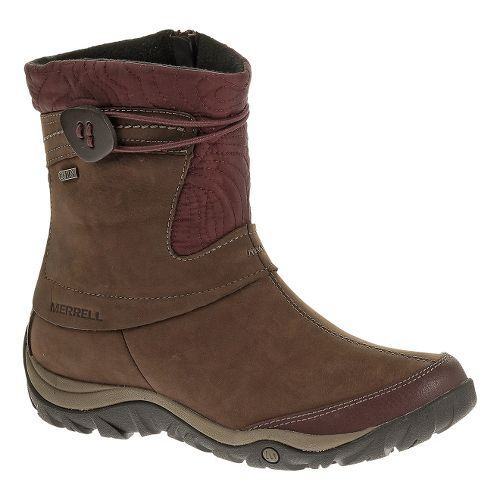 Womens Merrell Dewbrook Zip Waterproof Casual Shoe - Bourbon 8.5