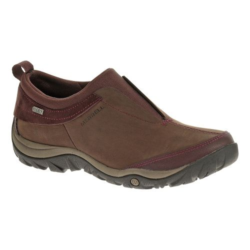 Womens Merrell Dewbrook Moc Waterproof Hiking Shoe - Bourbon 10