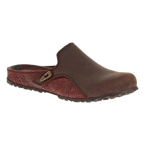 Womens Merrell Haven Slide Casual Shoe - Burgundy 6.5