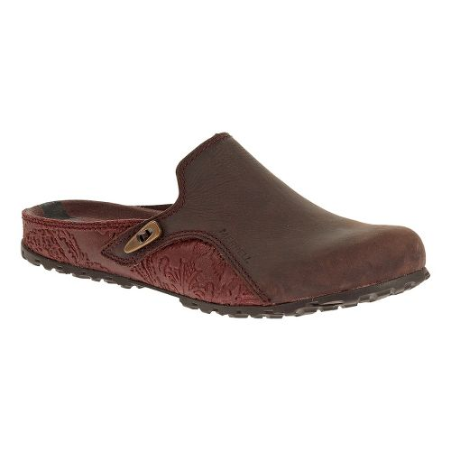 Womens Merrell Haven Slide Casual Shoe - Burgundy 7.5