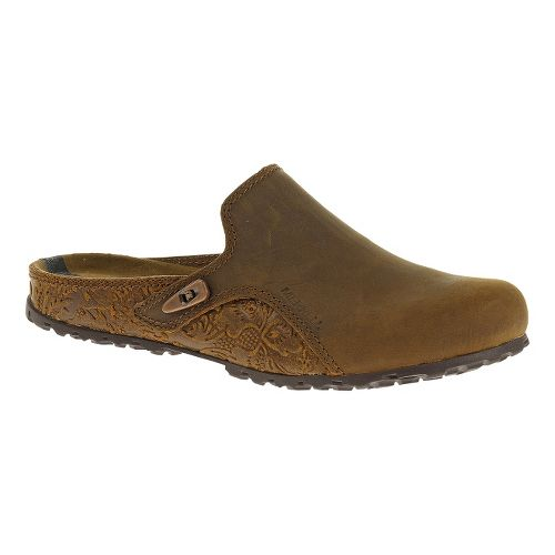 Womens Merrell Haven Slide Casual Shoe - Oak 6