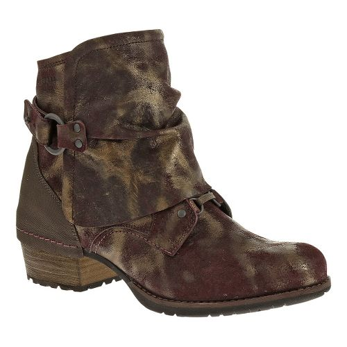 Womens Merrell Shiloh Cuff Casual Shoe - Burgundy 5
