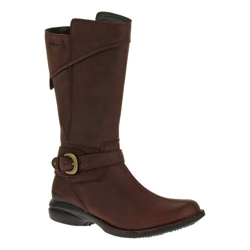 Womens Merrell Captiva Buckle-Down Waterproof Casual Shoe - Burgundy 5