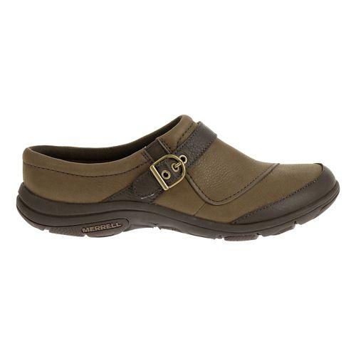 Womens Merrell Dassie Slide Casual Shoe - Char Brown 7.5