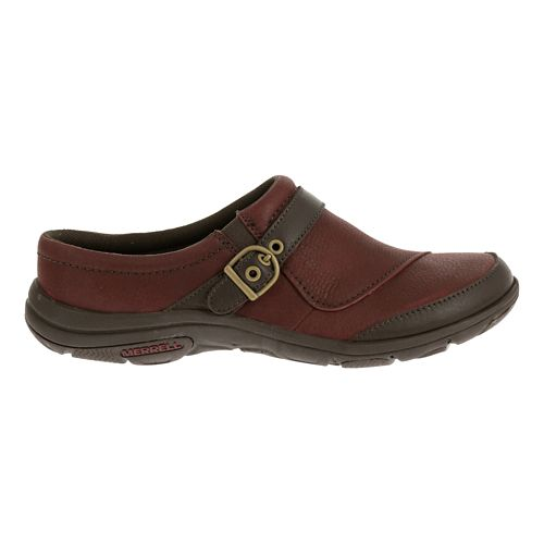 Womens Merrell Dassie Slide Casual Shoe - Deep Red/Espresso 8.5