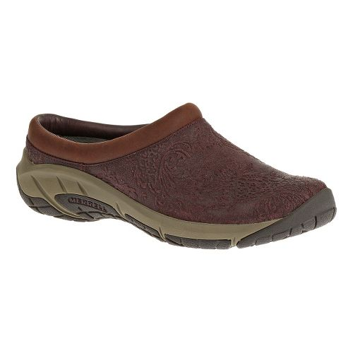 Womens Merrell Encore Frill Casual Shoe - Burgundy 10.5