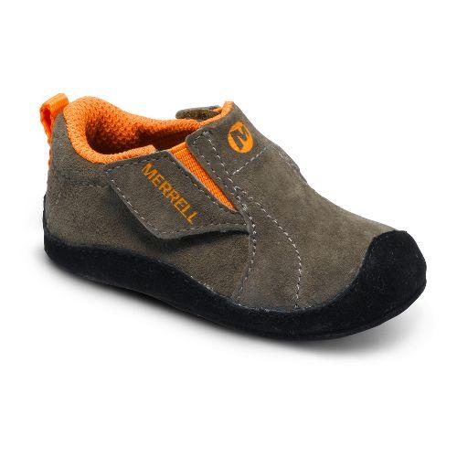 Kids Merrell Boys Jungle Moc Baby Casual Shoe - Berry/Grey 2
