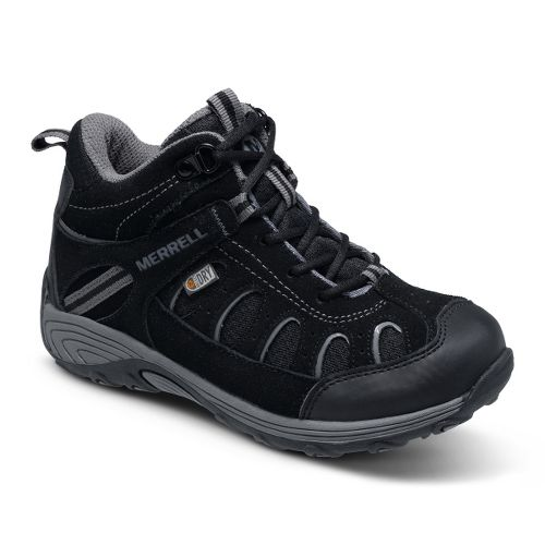 Kids Merrell Boys Chameleon Mid Lace Waterproof Hiking Shoe - Black 6.5
