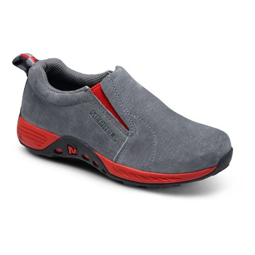 Kids Merrell Boys Jungle Moc Sport Casual Shoe - Grey/Red 4.5