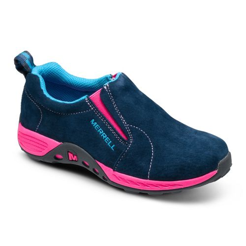 Kids Merrell Girls Jungle Moc Sport Casual Shoe - Navy/Pink 1.5