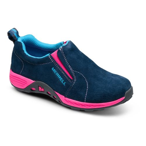 Kids Merrell Girls Jungle Moc Sport Casual Shoe - Navy/Pink 3.5
