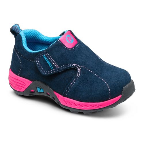 Kids Merrell Girls Jungle Moc Sport A/C Casual Shoe - Navy/Pink 7.5