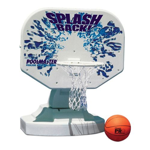Poolmaster Splashback Poolside Basketball Game - White/Blue