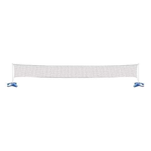 Poolmaster Across Pool Volleyball/Badminton Game Combo - White/Blue