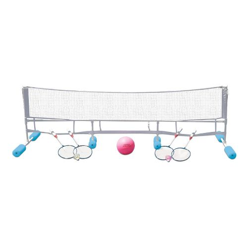 Poolmaster Super Combo Water Volleyball/Badminton Game - Blue/White